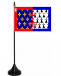 Pays de la Loire Desk / Table Flag with plastic stand and base.